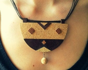 Tribal geometry necklace