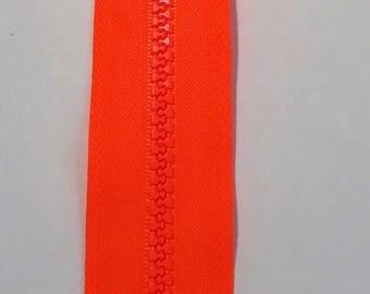 Orange neon zipper 25 cm