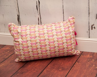 Retro Dachshund cushion