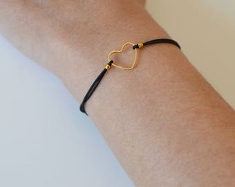 LITTLE GOLD HEART adjustable bracelet