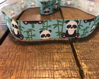 """1"""" Pandas and Bamboo Collar"""