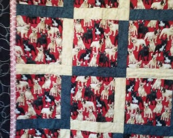 SUMMER SALES EVENT French Bulldog Lap Quilt