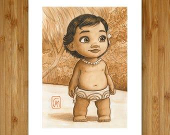 Baby Moana - 8x10 Art Print