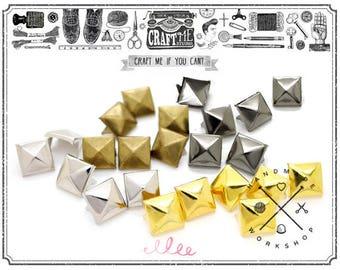 100pcs 5mm Mini Decorative Pyramid Studs Spot Nailhead