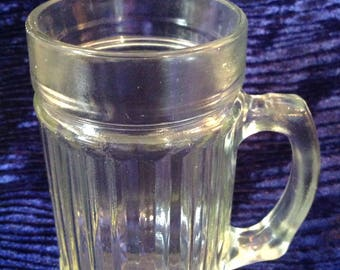 Ribbed glass mug