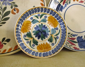 Spatterware Saucer Plate, Mastricht Soceite Ceramique