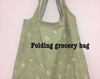 Eco bag,Foldable grocery bag,Eco friendly market bag,Reusable market bag,folding bag.
