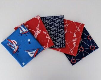 SEAFARER by Anna Griffin for Blend Fabrics - 5 Piece Fat Quarter Bundle - 5 Prints