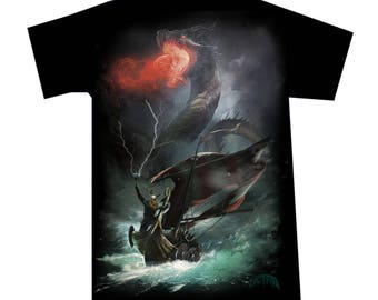 T-shirt Viking Dragon