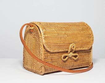 Large Mail Ata bag, basket bag, mail woven shoulder bag