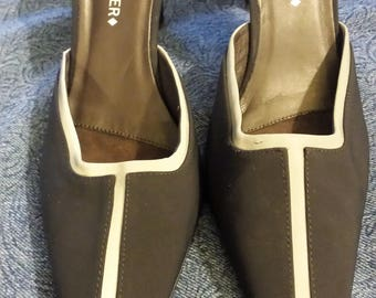 Donald J Pliner Black and Silver Mules Size 10