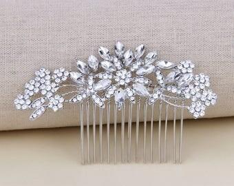 Bridal Hair Accessories, Wedding Hair Comb, Silver Bridal Jewelry, Crystal Bridal Hair Comb, Wedding Hair Accessories, Bridal Hair Piece