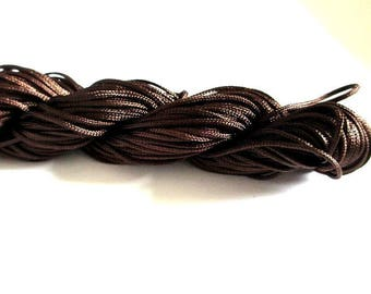 25 m thread dark brown nylon 1 mm