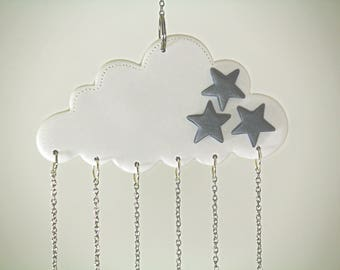 Baby Mobile, Cloud Mobile, Cloud Decor, Hanging Mobile, Nursery Crib Mobile, White cloud, Cloud Nursery, Modern Baby, Mobiles, Crib Mobile