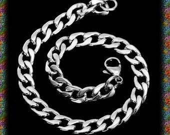 1 chain bracelet in stainless steel 20.5 cm