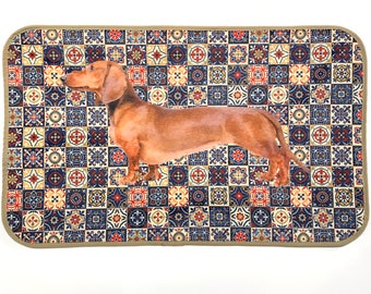 DACHSHUND Home Mat, Bathroom Mat, Rug, Pet, Animal Lovers, Room Mat