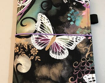 For Erin Condren Small Hardbound Sized Book Cover ~ Butterfly Flutters Fabric Planner Cover