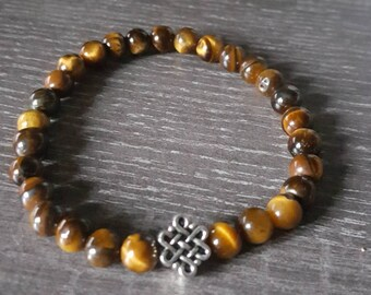 Celtic knot and Tiger eye stones bracelet