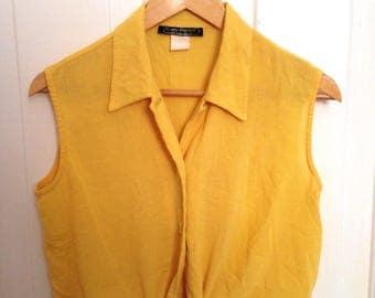 Vintage 80s Front-Tie Blouse