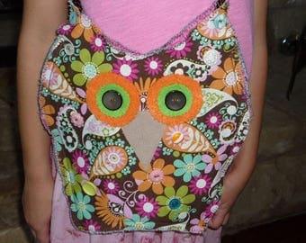 Summer Sale Cute Owl Purse/Handbag in Floral Paisley Print for Girls, Tweens, Teens or Anyone