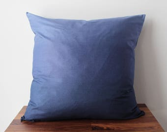 Subtle Blue Grey Ombré Throw Pillow