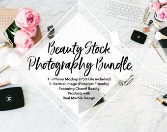 Beauty Styled Stock Photography / Social Media Graphic Bundle / Set of Three Styled Stock Photos / Website and Store Banners