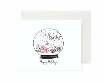 "Snowglobe ""Let it Snow, Happy Holdays"" Greeting Card"