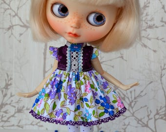 Blythe doll outfit - Blythe Dress, Stockings - Clothes 1/6 doll