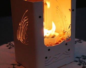 Free Shipping, Table Top Fireplace, Hurricane Lamp, Portable Fireplace, Beach , Candle Lantern, Tabletop Fireplace, Fire Pit, Candle Lamp