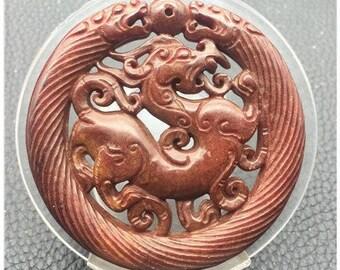 gem stones Asian Dragon Jade pendant