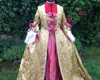 Historical costume dress 42/44 s XVIII woman French