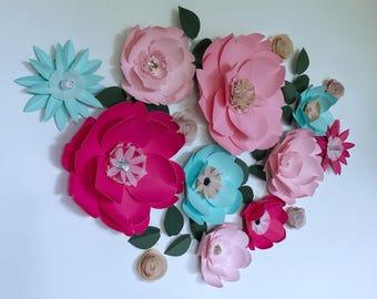Flower Wall Decor flower wall decor | etsy