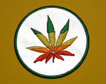 cannabis flower embroidered badge