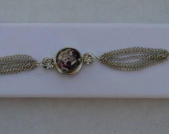 Silver chunk bracelet