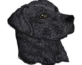 Black Lab Dog Applique Patch (Iron on)