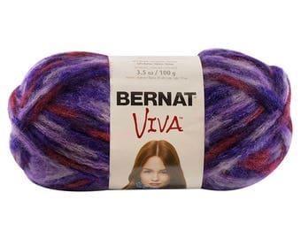 Bernat Viva Yarn, Violet Yarn, Viva yarn, purple yarn, crochet yarn, knitting yarn, bulky yarn, craft, supplies, yarn , acrylic