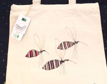 Totebag mosquitoes / organic Cotton