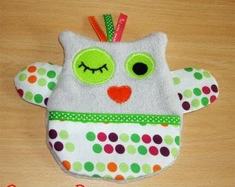 Soft flat fleece OWL Plushie