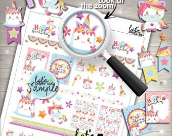 60%OFF - Unicorn Stickers, Printable Planner Stickers, Pastel Stickers, Fairy Tale Stickers, Unicorn Face, Rainbow Stickers, Cute Stickers