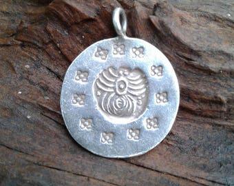 Hill Tribe Silver Tribal Pendant, Karen Hilltribe Silver