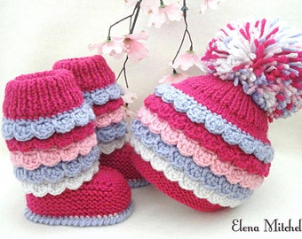 Crochet Baby Set Baby Hat Baby Booties Crochet Baby Shoes Knitted Baby Set Newborn Gift Baby Shower Baby Girl Baby Outfit Baby Uggs Kids