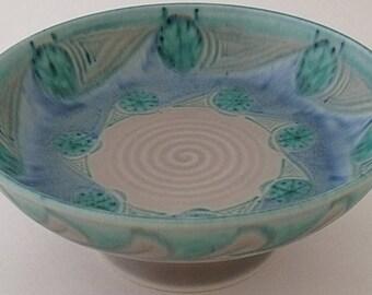 Large Pilkingtons Royal Lancastrian Footed Bowl - 1930's - Art Deco