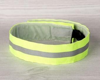 BeYou Bands non-slip adjustable headband, 7/8 inch wide, reflective. No slip headband for women and girls