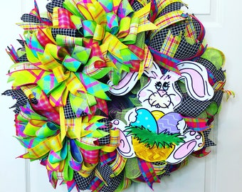 Easter Wreath, Easter Lamb, Happy Easter Wreath, spring wreath