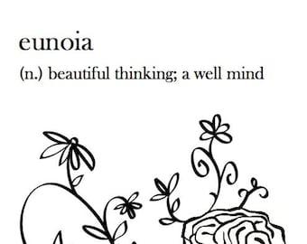 eunoia typography print