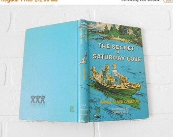 20% OFF SALE - The Secret Of Saturday Cove 1961 Children's Book, Weekly Reader Books, Book Club, Barbee Oliver Carleton