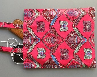 Bag with African print-red