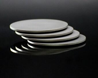 Titanium Drink Coasters - Set of 4 - American Made