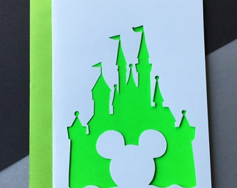 Disney Papercut Card