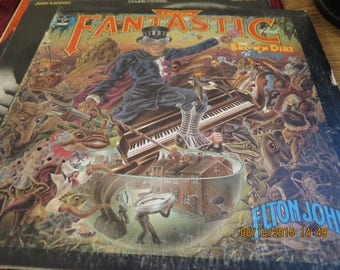 "Elton John LP - Captain Fantastic And The Brown Dirt Cowboy (FOUR) - MCA 1975 - ""Someone Saved My Life Tonight"""